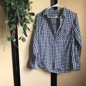 Merona Gingham plaid top